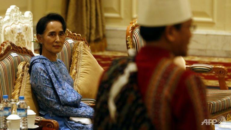 លោកស្រី អ៊ុង សានស៊ូជី (រូបភាពពី AFP)