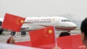 យន្តហោះ ARJ21 របស់ក្រុមហ៊ុន Chengdu Airline (រូបភាពពី AFP)