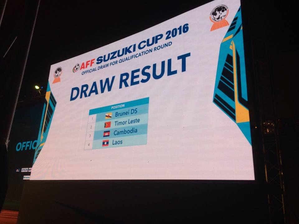 ក្រុមជម្រើសជាតិកម្ពុជា ទីម័រខាងកើត ឡាវ និងប្រ៊ុយណេ នឹងធ្វើការប្រជែងដណ្តើមយកកៅអីពានរង្វាន់ AFF Suzuki Cup 2016